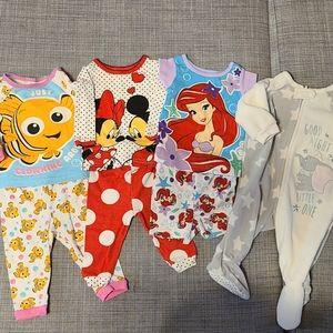 Disney Baby Pajama Lot